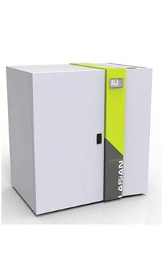 LASIAN BIOMASTER 25 grupo térmico de 25 Kw. para pellet de encendido automático, con tolva de 238 litros adosada, incluye bomba, vaso de expansión, válvula de seguridad, purgador y trasductor