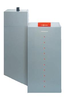 VIESSMANN VITOLIGNO 300-P 11-32 caldera de pie de pellets de 11-32 KW, solo calefacción, encendido automático, para funcionamiento con sistema neumático